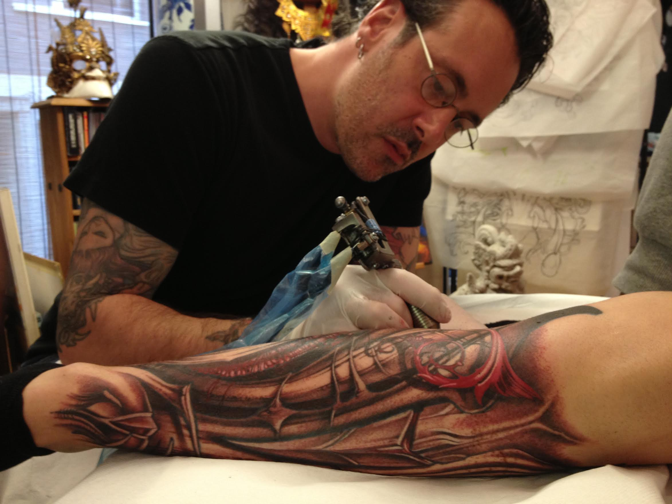 Rob Koss, who founded the XXXtattoo studio in Lucerne