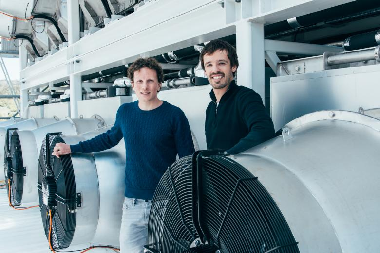 3.	Christoph Gebald and Jan Wurzbacher are engineers from ETH Zurich. Together they have developed a kind of giant vacuum cleaner to filter ambient air and trap CO2 before injecting it underground.