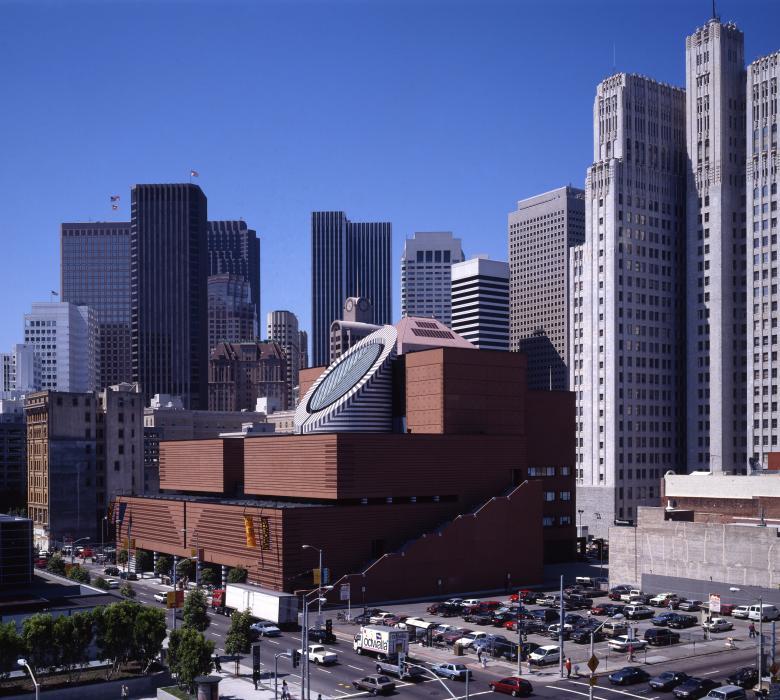 Cercle, carré, rectangle: le musée d'art moderne de San Francisco est composé de formes simples, avec lesquelles aime jouer Mario Botta. © Pino Musi