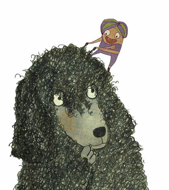 Bobby the black poodle desperately needs a haircut – but overcoming shyness isn't easy! One haircut please, Autorin: Dana Grigorcea, Illustratorin: Anna Luchs, © 2018 Baeschlin