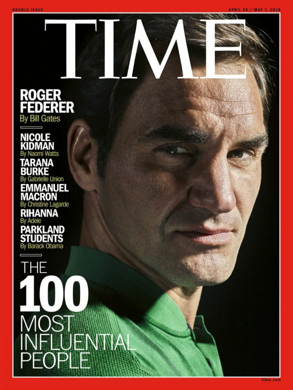 Roger Federer Graces One of Six Covers for TIME's 100 Most Influential People Issue