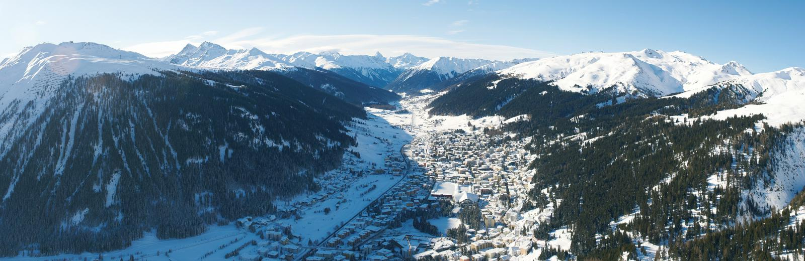 Aerial view of Davos today