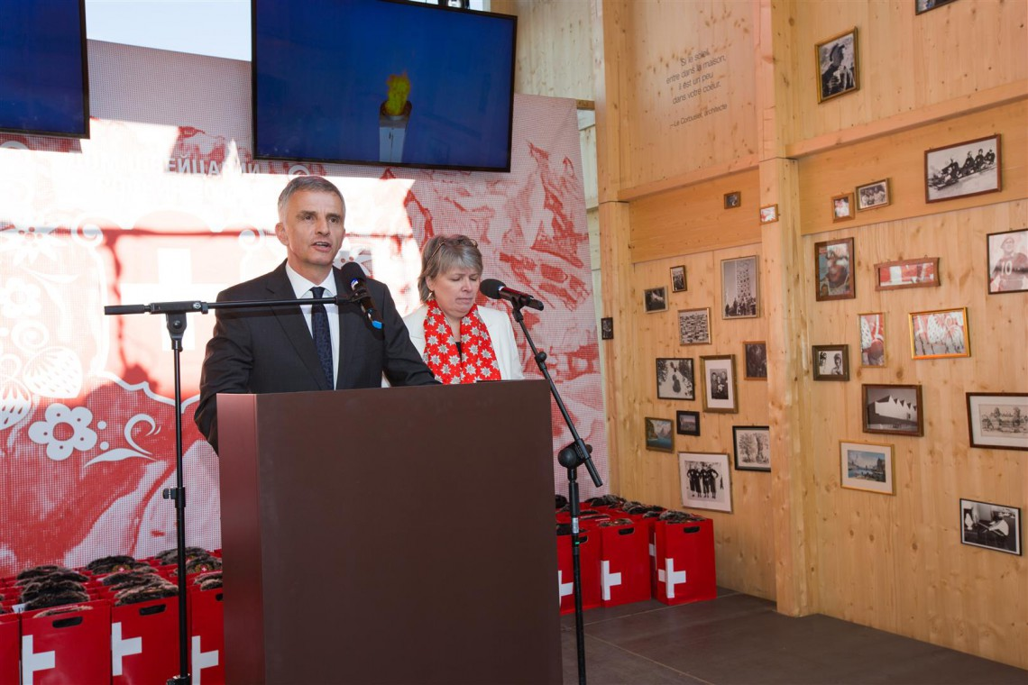 President of the Swiss Confederation Didier Burkhalter at the House of Switzerland