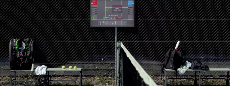 The recorded information is displayed in real time on a screen on the edge of the court – which can also assist the umpire in his job.